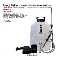 "PRO-512HP  4 Gallon - Hydrogen Peroxide Spray Applicator with ""Soft Flow Technology"""