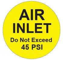 "1"" Labels Warning (Air)"