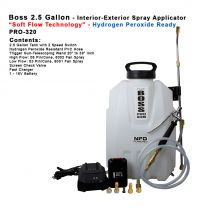 "PRO-320HP  2.5 Gallon - Hydrogen Peroxide Spray Applicator with ""Soft Flow Technology"""