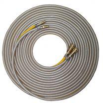 "50' Extension Hose - Twin Line for Foam-Liquid-Misting  c/w Brass QD Fittings - 1/4"""